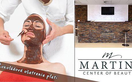 Čokoládové ošetrenie pleti za jedinečnú cenu 9,90€. Odbúrajte svoj stres a objavte blahodárne účinky čokolády pri ktorých omladnete.