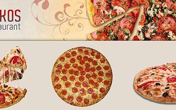Maxi pizza (výběr z 10 - ti druhů) v centru Prahy v krásném a novém podniku LOS KAKOS!