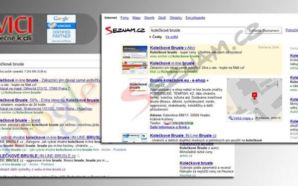 40% SLEVA na správu kampaní ve vyhledavačích Seznam a Google