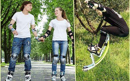 Dostaňte se do formy zábavnějším způsobem než je jogging! S naší 50% slevou můžete buď tři hodiny bruslit, anebo 40 minut hopsat na sedmimílových botách!