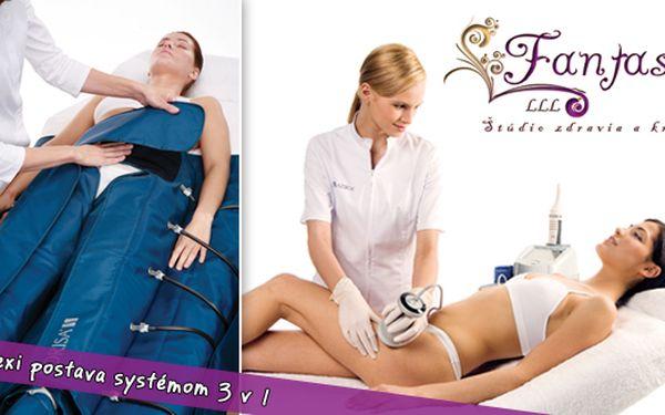 Sexi postava systémom 3 v 1, ktorý tu ešte nebol! Liposukcia ultrazvukom + Celulitída elektroporáciou + Lymfodrenáž, to všetko so 60% zľavou.