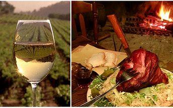 Za úžasnou cenu 178 Kč získejte grilované uzené vepřové koleno s křenem, hořčicí a čerstvým chlebem + 0,7l kvalitního zemského vína - Frankovka, Modrý portugal, Veltlínské zelené nebo Rulandské bílé. Vše dostanete ve stylové restauraci Zbrojnice!