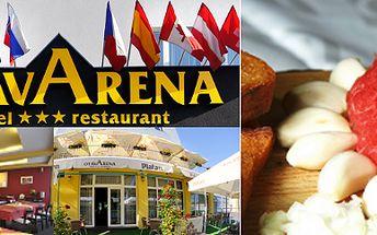 Hotel OtavArena v Písku nabízí 400 Kč za kilový tatarák a neomezené množství topinek. Tradiční bašta se slevou 73 %.