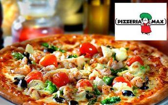 Zakupte voucher v hodnotě 500 Kč za pouhých 250 Kč a získejte tak 50% na veškerou konzumaci jídla v krásné pizzerii Max v Havířově! Vyberte si například jednu z výborných pizz, kterou si můžete objednat i s sebou.