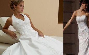 Nejkrásnější den Vašeho života, který bude patřit jenom Vám! Staňte se jeden den ve svém životě PRINCEZNOU s našimi svatebními šaty z úplně nové kolekce ZA 3.500,-!