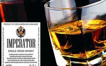 3 láhve 0,7l, 40% Single Grain whiskey Imperator přímo od výrobce, jen 907 Kč místo 1814 Kč