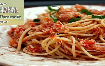 Domácí těstoviny v pravé pizzeria ristorante - výběr ze 40 druhů jídel!