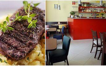 Zajděte si za úžasnou cenu 285 Kč se svým partnerem na skvělé jídlo! Získejte 2x 1/4 kilový ARGENTINA STEAK k tomu 2x ŠŤOUCHANÝ BRAMBOR s divokou pikantní brusinkovou omáčkou a oblohou s balsamikovou redukcí!Vše získáte ve stylové restauraci Zakotvi!