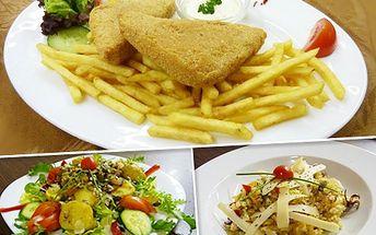 Vyberte si jedno z 5 jídel a pochutnejte si jen za 39 Kč! Je libo smažák, tuňákový salát či hříbkové rizoto? Navíc 50% sleva na vstup do hudebního klubu!