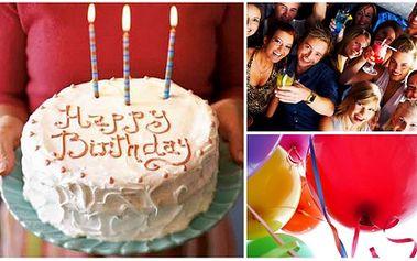 Oslavte své narozeniny ve velkém stylu! Oslava pro 10 lidí za pouhých 2490 Kč! Cena zahrnuje neomezenou konzumaci PIVA a MALINOVKY, POHOŠTĚNÍ ve formě pizz a také VIP obsluhu! Striptér nebo obsluha nahoře bez! To vše v Café Andromeda s 50% slevou!
