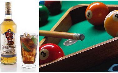 Za pouhých 79 Kč získejte HODINU KULEČNÍKU a k tomu DVAKRÁT DRINK Captain Morgan s colou v legendárním klubu OKO v Plzni! Zajděte se pobavit s kamarádem a to se skvělou 59% SLEVOU!
