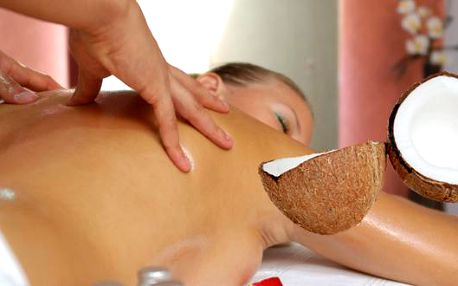 Kokosová masáž s peelingem v salónu Gracie v centru Zlína. 60-ti minutová kokosová terapie obsahuje kokosový peeling a masáž 100% kokosovým olejem. Exotická vůně a relaxační masáž s peelingem pro osvěžení Vašeho těla i mysli. Dopřejte si exotické osvěžení