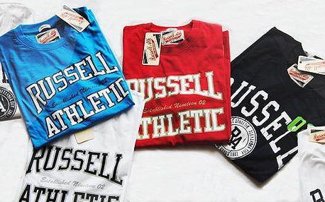 Pánská sportovní trika Russell Athletic za výbornou cenu!!! Skvěle padnoucí a velice příjemné na nošení. Vyberte si svoji barvu a velikost. Dostupné velikosti M - XXL! Doručení pohodlně poštou.
