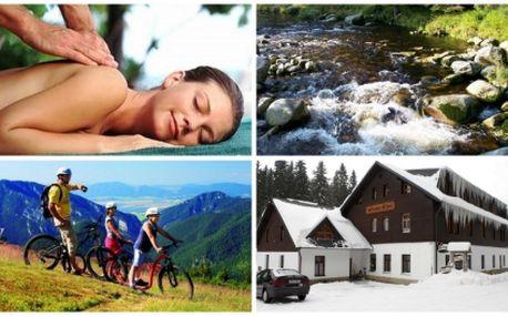 Užijte si krásný víkendový pobyt pro dvě osoby s polopenzí a bohatým wellnes programem v penzionu panský dům kvilda v centru národního parku šumava. V ceně je zahrnuto 2x 15 minut solária, 2x masáž, 1 hodinu sauny, neomezené využití bazénu!