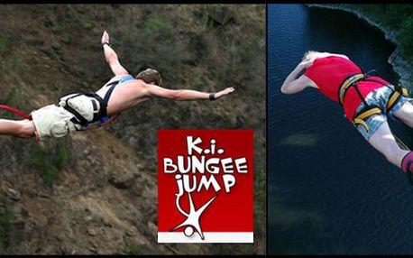 Adrenalinová bomba!!! Bungee jumping ze Zvíkovského mostu směrem k Vltavě!!!