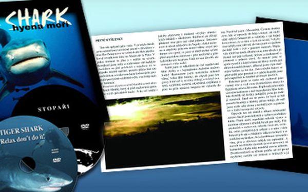 Kniha Tiger Shark - Hyena moří a 2 DVD plná úchvatných záběrů se slevou 66 % za fantastických 252 Kč včetně poštovného!! Dárková kazeta s unikátním dokumentem potápěčů, kteří celý jeden rok sledovali druhého nejnebezpečnějšího žraloka světa. Ušetřete s ná