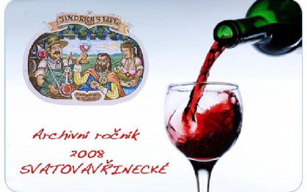 Svatovavřinecké víno - ARCHIVNÍ ROČNÍK 2008 z olbramovických sklepů s historií sahající až do roku 1321. Víno zraje unikátním postupem pod pyramidami!!!