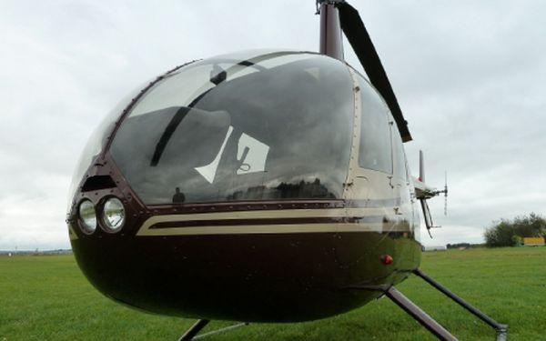 Zažijte nezapomenutelný let pro 3 osoby moderním vrtulníkem Robinson R44 v podání profesionálního pilota a objevte krásy naší země z ptačí perspektivy! Zkuste přece už něco pořádného, let vrtulníkem to není jen tak pro někoho!