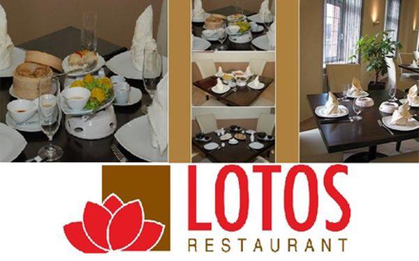 Kupón na 40% slevu gurmánský zážitek pro 2 v lotos restaurantu