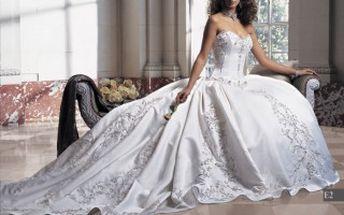 Svatební a společenské šaty - sleva 10% na ušití šatů na míru - KOUPĚ!