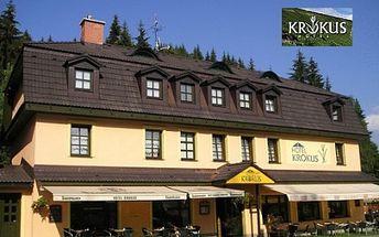 Pouhých 1260 Kč za rekreační pobyt pro DVĚ OSOBY v Peci pod Sněžkou ve tříhvězdičkovém hotelu Krokus na 2 NOCI se snídaní! Prožijte nádherný rekreační víkend v Peci pod Sněžkou a to s 50% slevou!