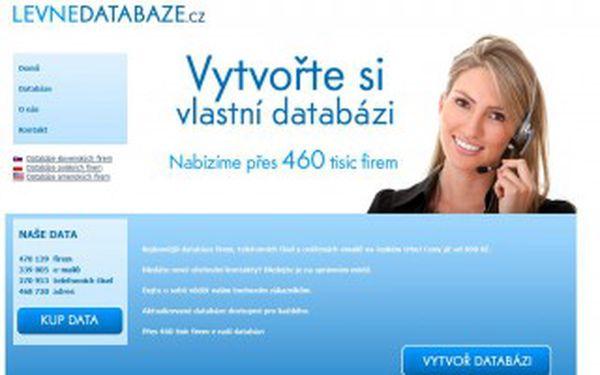 Sleva 4 450 Kč na Databázi telefonních čísel (270 953 telefonních čísel + jméno firmy) původní cena: 8 900 Kč