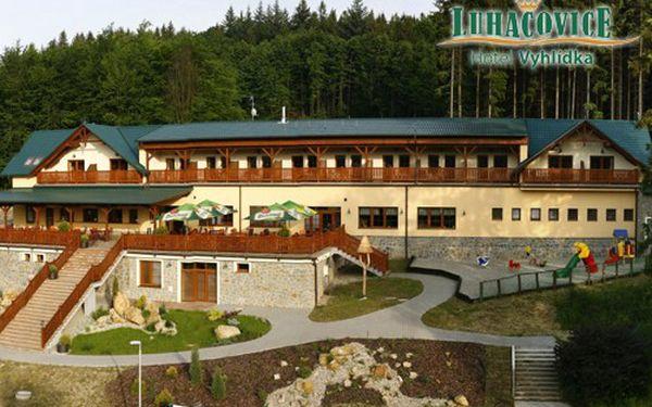 Pobyt pro 2 osoby na 2 noci ve 4**** Hotelu VYHLÍDKA v lázeňském městě Luhačovice za 2200 Kč! Polopenze, sauna, bowling, privátní whirlpool, fitness, 1 dítě do 6ti let zdarma! Pokoje s internetem.