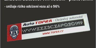 Zabezpečení vozidel - Auto Topra