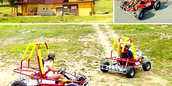 Budete řádit jako děti. Odvažte se a využijte 50% slevu na jízdu v terénní káře. 5 jízd na travních terénních kárách ve Ski Areálu Olešnice na Moravě.