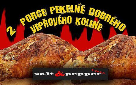 pouhých 110Kč za 2 porce Pekelně dobrého vepřového uzeného kolena od salt and pepper. ochutnat u nás není hřích