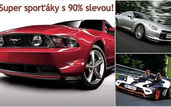 Zkuste sporťáky za MILIONY s neskutečnou 90% SLEVOU! Ford Mustang GT, KTM X-BOW nebo Nissan GT-R jen pro Vás za neskutečných 690 Kč. Splňte si sen a projeďte se v supersportu! Řízení nadupaného sporťáku, pojištění, kauce a foto - to vše v ceně!