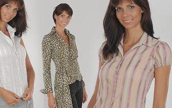 Chcete být skvěle oblečena do zaměstnání i do společnosti nebo jen doladit svůj šatník o nějaký úžasný kousek? Nakupujte v našem e-shopu právě teď! Vyberte si z dámské kolekce společnosti K-MONA a buďte šik ve dne i večer. Velikosti košilí od S až po XXL!