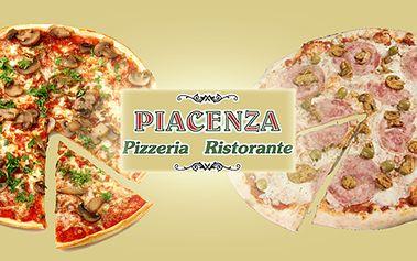 Velká a výborná pizza v pravé pizzeria ristorante, výběr z 20 - ti prvotřídních pizz!
