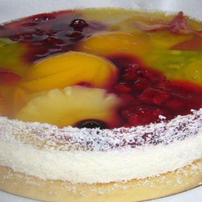 OSLAVTE Mezinárodní DEN DĚTÍ nebo hezké vysvědčení vašich ratolestí s poctivým domácím ovocným dortem! To je 1,25kg nadýchaného piškotu, žloutkového krému a 6 druhů ovoce s báječnou slevou 50%