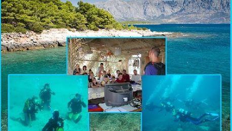 Kurz potápění v Chorvatsku jen za 2500Kč!Sleva 50%! Kurz potápění na chorvatském ostrově Brač na české potápěčské základně Manjana určený pro milovníky potápění. Získejte povolení k potápění s celoživotní a celosvětovou platností!