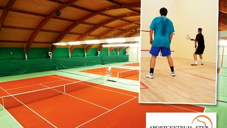 Squash, tenis či badminton s 60% slevou. Zahrajte si sport dle Vašeho výběru na kvalitních kurtech díky přednabité kartě s kreditem 1000 Kč jen za 399 Kč!