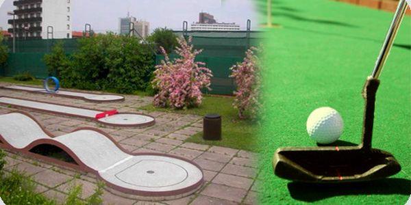 Využijte hezkého počasí a zajděte na minigolf! 120minut minigolfu pro dvě osoby v příjemném prostředí na Praze 4.