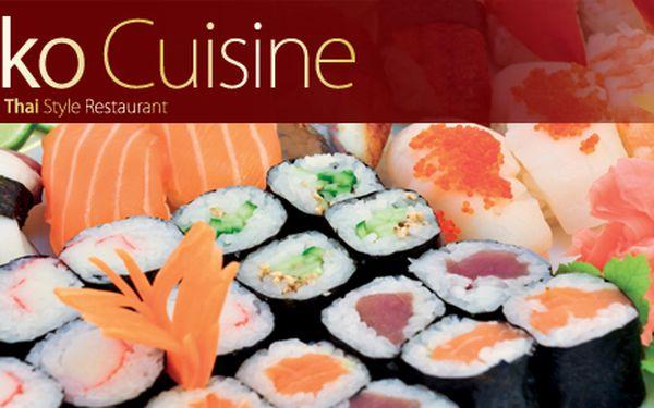 Získejte 45% slevu a ochutnejte tradiční japonské sushi – maki menu i s polévkou misoshiru v luxusní restauraci Saiko Cuisine
