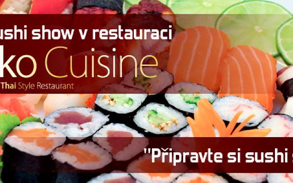 Získejte účast na Live sushi show v restauraci Saiko Cuisine se slevou 50%