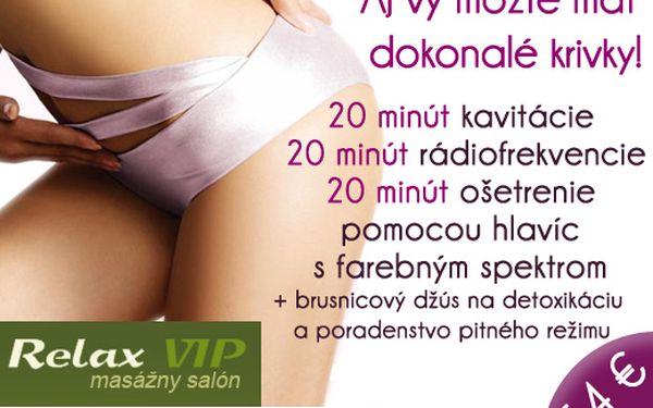 Získajte sebavedomie vďaka krásnej postave! Neinvazívna liposukcia, balíček 60 min. ošetrení + možnosť vyhrať procedúry v hodnote 300 € len za 54 € (hodnota 150 €)