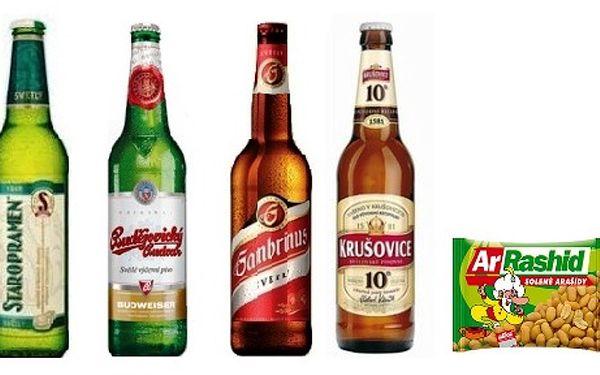 399 Kč za 20 piv a 5 balení arašídů na Vaší party v hodnotě 620 Kč