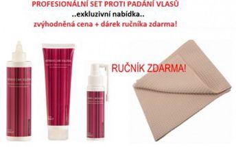 AKČNÍ SET proti VYPADÁNÍ VLASŮ, profesionální vlasová kosmetika i pro domácí použití ! 50% sleva + navíc ručník ZDARMA!