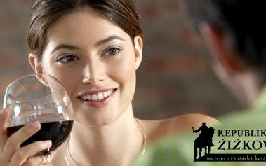 Makedonské červené víno 0,2 l, káva a voda za polovic!