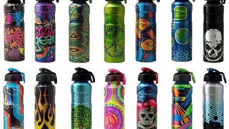 DVĚ designové víceúčelové hliníkové lahve Cool Gear dle vlastního výběru za cenu jedné! Originální dárek nejen pro všechny sportovce!