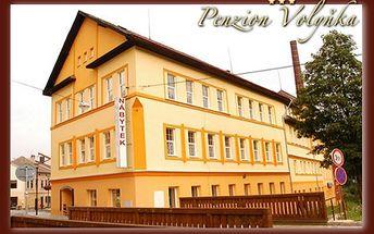 Ubytování na 3 dny (2 noci) pro 2 osoby v PENZIONU VOLYŇKA*** ve Vimperku se snídaní, 1 hodinou vířivky a lahví sektu jen za 1 276 Kč, a to s platností až do konce roku!
