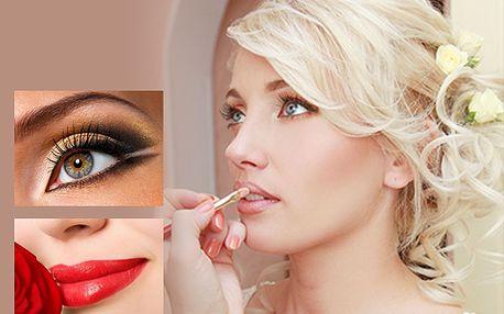 Svatební líčení, zkouška s hodinou vizážistiky a kosmetického poradenství, kupon na 50% slevu jen za 29 Kč