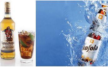 Zajděte si ve dvou na skvělý drink! Za pouhých 62 Kč získejte 2x Captain Morgan 0,04l a k tomu 2x Kofolu 0,33 l !! Vše získáte ve stylové restauraci Ve Dvoře a to s 50% SLEVOU!!