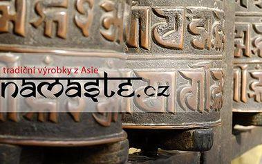 Poukaz s 50% slevou na nákup v e-shopu Namaste.cz Tradiční výrobky z Nepálu, Tibetu a exotických asijských zemí. Velice oblíbené jsou hlavně nože Kukri a Tibetské zpívající mísy. Namaste.cz se specializuje na dovoz těchto produktů.