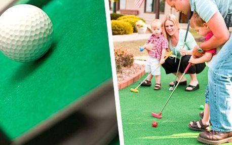 Rodinná zábava, která nadchne každého - 18 jamek na minigolfu Lesná se slevou 50%. Nejen golfová sezóna je již v plném proudu, tak ať nic nepropásnete!