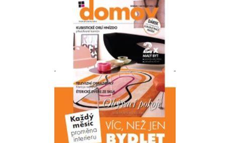 """49% jen 347 Kč za roční předplatné časopisu """"Domov"""", časopis pro všechny, kteří chtějí mít krásný domov, """"Domov"""", to je víc než jen bydlet."""